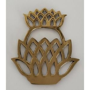 Hampton Brass Welcome Pineapple Trivet Labeled
